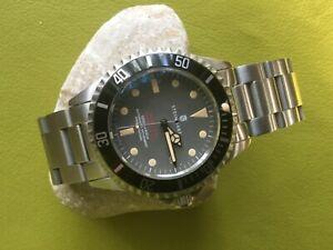 腕時計 リンク1steinhartブドウsteinhart ocean one vintage red automatic dive watch box, papers, extra links