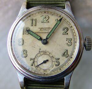 【送料無料】 腕時計 ティソコレクタmens wwii period tissot collectors military wristwatch good condition