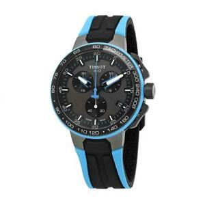 【送料無料】 腕時計 ティソメンズレースサイクリングスチールケースクオーツtissot mens trace cycling 445mm steel case quartz watch t1114173744105