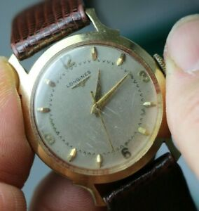 【送料無料】 腕時計 ビンテージkゴールドメンズvintage longines 17 jewels 22ls 14k gold mens wristwatch circa 1950s
