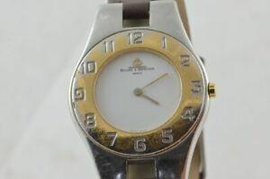 【送料無料】 腕時計 ボーメメルシエラインmmレザーストラップドキュメントbaume mercier line womens 32 mm watch with leather strap documents