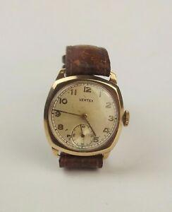 【送料無料】 腕時計 トイレ9ctゴールドgents 9ct gold vertex wristwatch