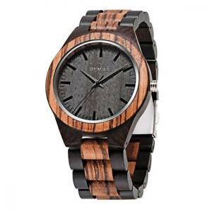 【送料無料】 腕時計 クオーツbymaxアナログmen wood watch quartz, bymax fashion handmade gift analog wrist watches