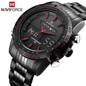 【送料無料】 腕時計 ブランドnaviforceスポーツクオーツデジタルアナログluxury brand naviforce men fashion sport watches mens quartz digital analog
