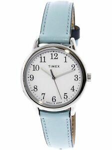【送料無料】 腕時計 リーダーシルバーレザーアナログクォーツファッションウォッチtimex womens easy reader tw2r62900 silver leather analog quartz fashion watch