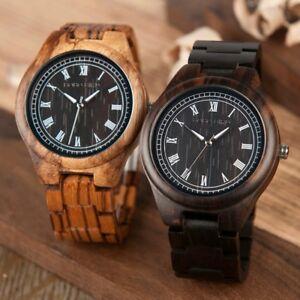 【送料無料】 腕時計 ローマシマウマbobo bird wo18o19bobo bird wo18o19 wood watch ebony zebra wooden watches for men white roman numb