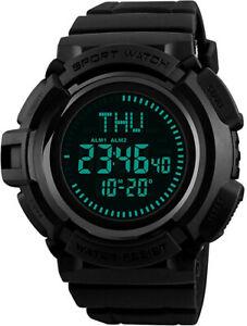 【送料無料】 腕時計 メンズデジタルマルチファンクションコンパスワールドタイムmens military digital watches multifunction compass 50m waterproof world time