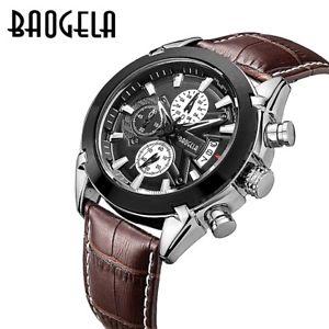 【送料無料】 腕時計 クロノグラフクオーツアナログブラウンブラックウォッチ