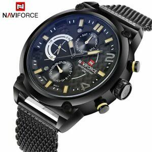 【送料無料】 腕時計 ブランドメンズアナログクォーツnaviforce luxury brand mens analog quartz date watches man 3atm waterproof