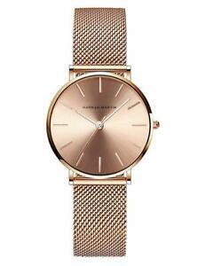 【送料無料】 腕時計 ステンレスメッシュワットアナログクオーツローズwomens analog quartz rose gold watch with stainless steel mesh strap ladies wat
