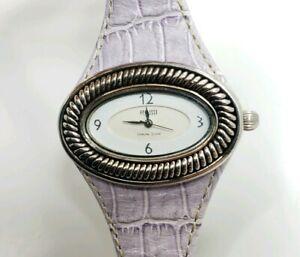 【送料無料】 腕時計 ecclissiスターリング925beautiful modern ecclissi sterling silver 925 purple leather ladies wrist watch