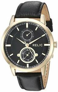 【送料無料】 腕時計 ケネスzr77297relic mens kenneth goldtone leather watch zr77297