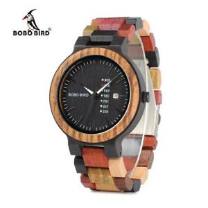 【送料無料】 腕時計 bobo birdスマートクオーツmens wooden watch bobo bird luxury stylish quartz handmade wristwatch gift