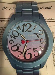 【送料無料】 腕時計 ジョンソンマルチウォッチbjドルnwb betsey johnson rainbow dreams bluepurple ombr multi watch bj007060185