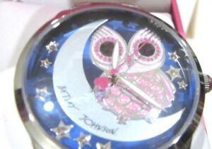 【送料無料】 腕時計 ベッツィージョンソンフクロウbj0049530 nwt69betsey johnson womens blue owl silver tone watch bj0049530 nwt 69