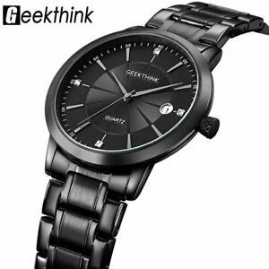 【送料無料】 腕時計 ステンレススチールクオーツビジネスカジュアルgeekthink ultra thin stainless steel quartz watch men business casual gifts him