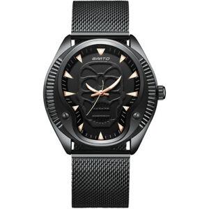 【送料無料】 腕時計 メンズスカルウォッチファッションカジュアルアナログステンレススチールmens skull watch steampunk fashion boy casual analog wristwatch stainless steel