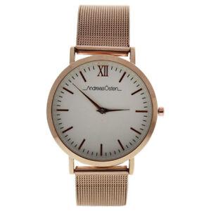 【送料無料】 腕時計 ローズゴールドステンレススチールメッシュブレスレットandreas osten ao135 distrig rose gold stainless steel mesh bracelet watch