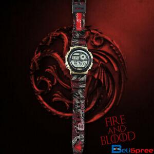 【送料無料】 腕時計 ae1000w targaryengotディジタルae1000w targaryen fire and blood custom design got edition digital resin watch