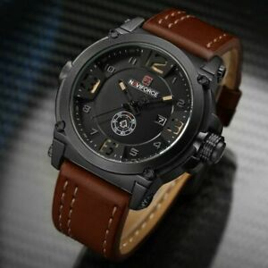 【送料無料】 腕時計 ファッションスポーツレザークォーツオスfashion wristwatch watches men military sport waterproof leather quartz man male