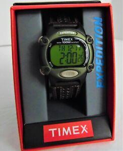 【送料無料】 腕時計 タイメックスexpeditionデジタルwブラウンchronoアラームindiglo t48042jttimex expedition digital watch green wbrown strap chrono alarm indiglo
