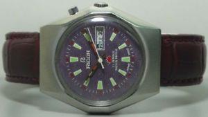 【送料無料】 腕時計 ヴィンテージリコーmensステンレスs405vintage ricoh automatic day date mens stainless steel wrist watch old used s405