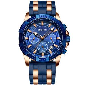 【送料無料】 腕時計 スポーツクロノグラフゴムビジネスクオーツluxury men military sport chronograph rubber strap business quartz wrist watches