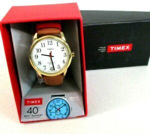 【送料無料】 腕時計 メンズリーダーレザーストラップウォッチtimex mens tw2r40100 easy reader 40th annv leather strap watch 0926 []