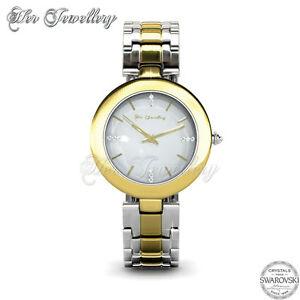 【送料無料】 腕時計 スワロフスキーウォッチ[crystals from swarovski] goldy watch