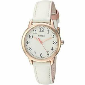 【送料無料】 腕時計 リーダーtimex tw2t53900, womens easy reader, white leather watch, indiglo