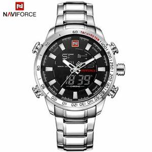【送料無料】 腕時計 トップブランドスポーツメンズアナログデジタルウォッチnaviforce top brand men military sport watches mens led analog digital watch mal