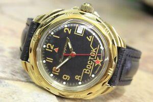 【送料無料】 腕時計 ボストークkomandirskyロシア219524vostok komandirsky russian military wrist watch 219524