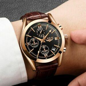 【送料無料】 腕時計 メンズスポーツレザークォーツmilitary watches luxury mens sports leather waterproof quartz watch gift