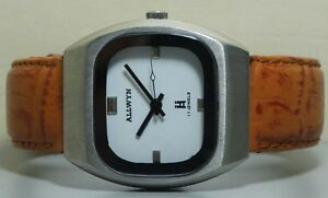【送料無料】 腕時計 ビンテージワインディングメンズステンレスアンティークvintage allwyn winding mens stainless steel wrist watch old used r719 antique