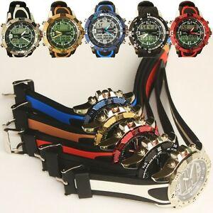 【送料無料】 腕時計 ディジタルledクオーツステンレススポーツmilitary digital date led quartz men stainless steel sport army wrist watch dive