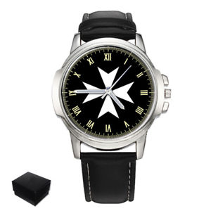 【送料無料】 腕時計 ナイツマルタマルタクロスメソニックメンズウォッチknights of malta maltese cross masonic gents mens wrist watch gift engraving