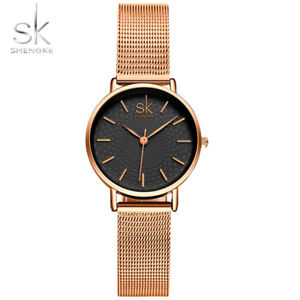 【送料無料】 腕時計 skmilanquask fashion women golden wrist watches milan street snap luxury jewelry qua