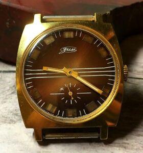 【送料無料】 腕時計 ussrpobedazimロシアソヴィンテージussr pobeda zim russian soviet vintage watch gold plated excellent