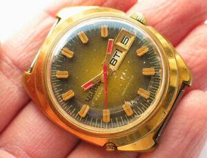 【送料無料】 腕時計 ビンテージソウォッチソビエトサービスvintage soviet chaika watch day amp; date *ussr cccp* serviced