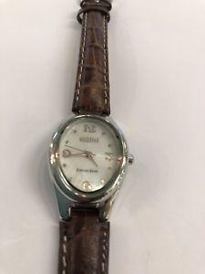 【送料無料】 腕時計 パールブラウンレザーストラップスターリングシルバーウォッチecclissi sterling silver mother of pearl brown leather strap quartz watch