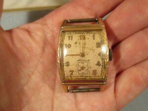 【送料無料】 腕時計 ヴィンテージゴールドプレートアールデコエルジンウォッチvintage 10k rolled gold plate art deco elgin watch runs