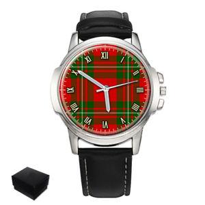 【送料無料】 腕時計 macgregor scottish clan tartan gents mens wrist watchgift engravingmacgregor scottish clan tartan gents mens wrist watch