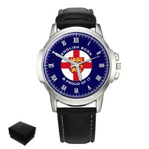 【送料無料】 腕時計 イギリスメンズengland english born amp; proud of it gents mens wrist watch gift engraving