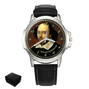 【送料無料】 腕時計 ウィリアムシェイクスピアメンズウォッチwilliam shakespeare poet gents mens wrist watch gift engraving