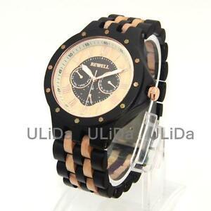 【送料無料】 腕時計 ビーウェルカレンダーローマスポーツクオーツbewell wooden watches calendar week roman numerals men sport quartz wrist watch