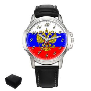 【送料無料】 腕時計 ロシアロシアメンズウォッチrussia russian flag gents mens wrist watch gift engraving