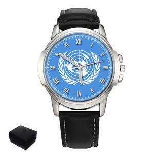 【送料無料】 腕時計 メンズウォッチunited nations un flag gents mens wrist watch gift engraving