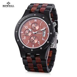 【送料無料】 腕時計 ビーウェルクオーツクオーツbewell men women wood watch date quartz wooden wristwatch quartz ecowatch big