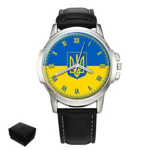 【送料無料】 腕時計 ウクライナウクライナメンズウォッチukraine ukrainian flag gents mens wrist watch gift engraving