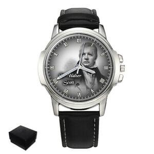 【送料無料】 腕時計 サーウォルタースコットスコットランドメンズウォッチsir walter scott scottish historical novelist mens wrist watch engraving gift